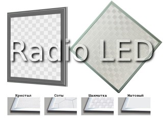 LED панель  600x600x12mm белый 6500K 3700Lm узор шахматка (mosaic)