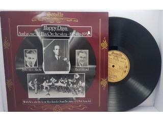 """Ambrose & His Orchestra – Happy Days - 1929 To 1930 LP 12"""""""